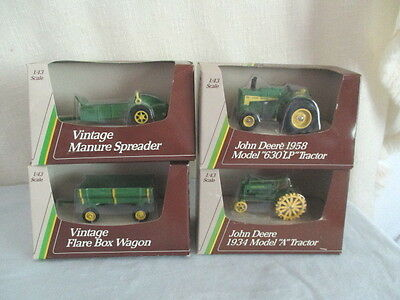 4 Ertl JOHN DEERE TRACTORS & IMPLEMENTS *1/43 Scale Farm Toy