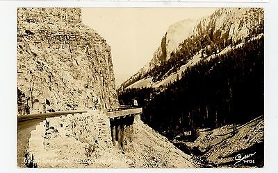 Golden Gate Canyon RPPC Yellowstone National Park—Vintage Photo Sanborn 1940s