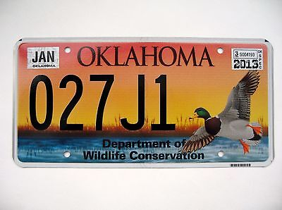 OKLAHOMA Department of Wildlife Conservation. License plate Expired Graphic