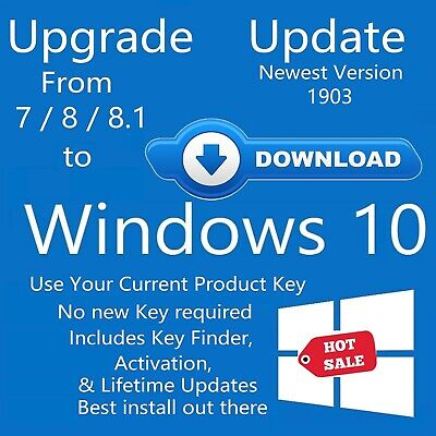 UPGRADE WINDOWS 7 or 8 & 8 1 to Windows 10 update download install for pro  home