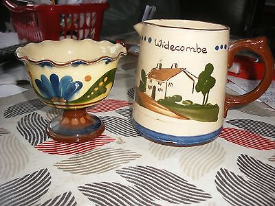 Torquay, Devon ware - Dartmouth Jug- Widecombe and Bowl