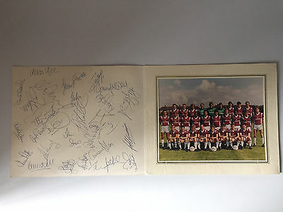 West Ham United 1987 / 88 Squad Team Photo / Autographed By All The Players