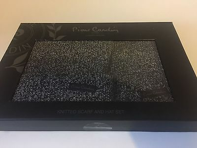 Pierre Cardin Luxury Knitted Hat & Scarf Adult Gift Box Set - Great Gift Present