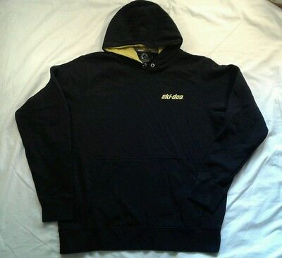 Mens SkiDoo BRP Winterbreak Hoodie XL Sweatshirt Black Yellow