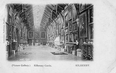 KILKENNY CASTLE (PICTURE GALLERY) IRELAND VINTAGE IRISH POSTCARD by LAWRENCE