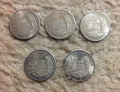 Lot Of 5 - Apollo 11 FLOWN Metal MFA
