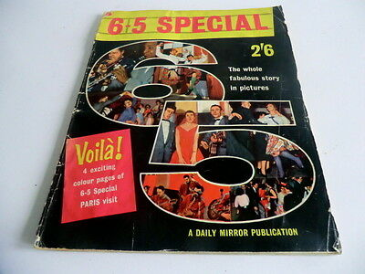 "Rare 1958 Pop Music Magazine About The Hit Bbc Tv Show ""6-5 Special"""