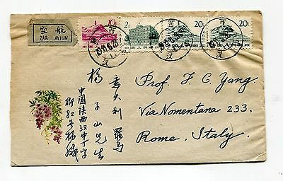 Air mail cover from China to Italy 1965