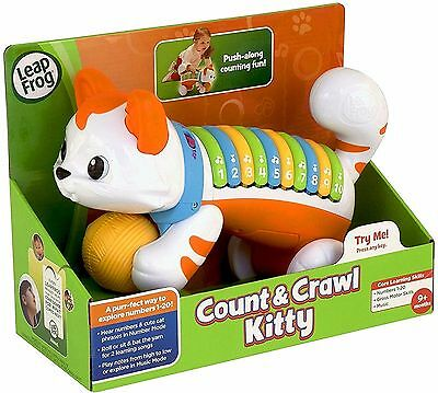 LeapFrog Count and Crawl Kitty Musical Learning Toy Baby Boy Girl Gift 9 Months+