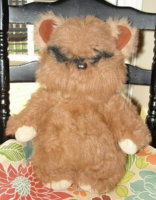 "Vintage Wicket The Ewok 15"" Plush Toy 1983 Star Wars Kenner VGC Fur"