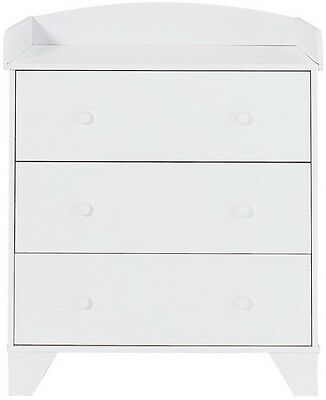 Baby Changing Table Deck Unit BabyStart Oxford Changer Top - White