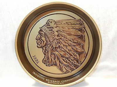 Vintage Iroquois Indian Head Beer Round Metal Serving Tray Buffalo NY