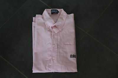 chemise rose manches courtes taille L ( serge blanco ) tbe