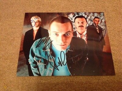 TRAINSPOTTING  -  4 of The CAST - SIGNED -  10x8 COL  PHOTO -  UACC