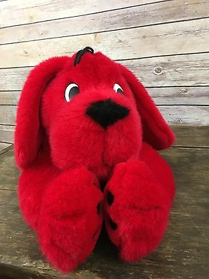 "1997 Scholastic 21"" Plush Clifford the Big Red Dog Large Stuffed Laying Puppy"