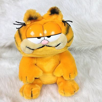 Vintage Dakin Garfield Plush 1981 Sitting Stuffed Animal Cat  Orange Black 10""