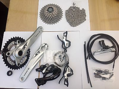 New Shimano XTR Transmission Groupset with XT Chainset & Front Mech 10 speed