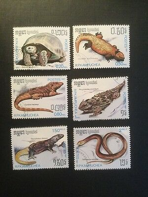 Cambodia Reptile Animal/Wildlife/Nature Stamp Set 1987