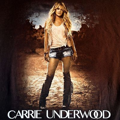 CARRIE UNDERWOOD 2016 The Storyteller Tour T Shirt Medium Concert Brown
