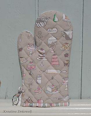 Clayre & Eef Backhandschuh Dolce Vita Muffin Cup Cake Küche Shabby 16x30 cm DV44