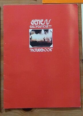 GENESIS 1977 WIND AND WUTHERING TOUR CONCERT PROGRAM original
