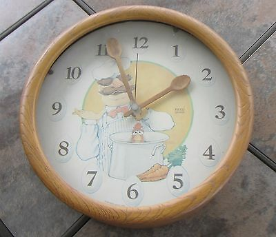 Jim Hensons Muppets Swedish Chef Cooking Kitchen Wall Clock 1980 Picco Works