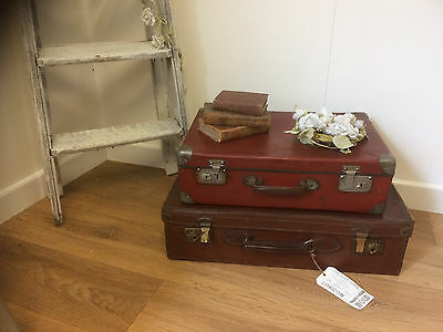 Pair of small vintage suitcases