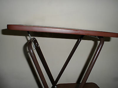Vintage Adjustable Collapsable Projector Table Stand With Shelf