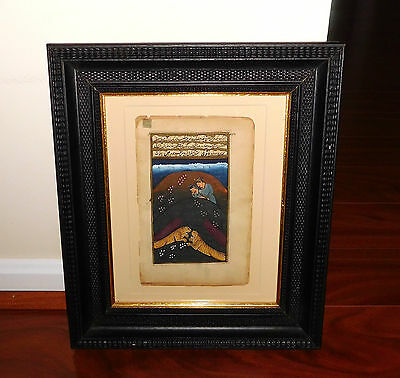 Antique Manuscript Indo-Persian painting paper art