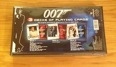 James Bond 007 Limited Edition 3 X Playing Cards