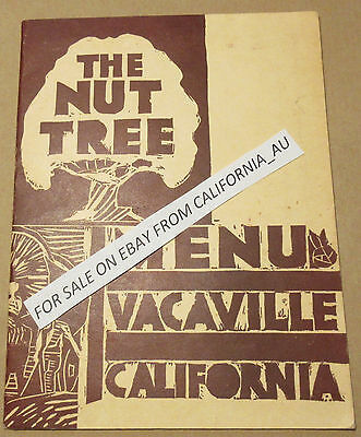 The Nut Tree Menu; ~1950; Vacaville, Cal.; Restaurant/Airport/Attraction