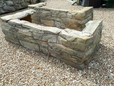 Used Fibreglass Stone Effect Garden Wall for Water Feature ? Pond ? etc