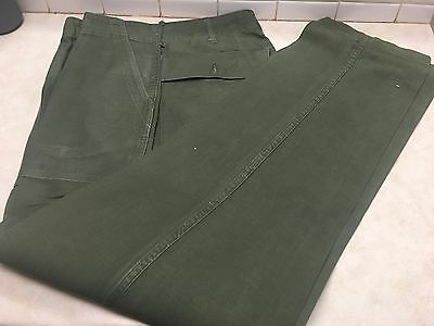1975 Us Army Og-107 Cotton Sateen Fatigue Trousers Pants