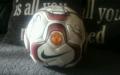 Nike geo merlin 2007/08 Manchester United ball limited edition 6 x autograps