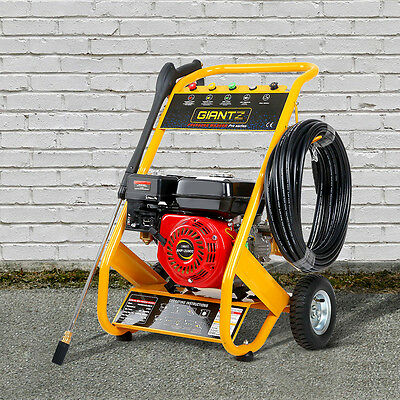 Pressure Washer 8HP 4800PSI 20m Hose Water Cleaning Petrol Engine Gurney Giantz