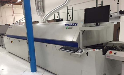 reflow HELLER CONVECTION OVEN DOM 20071912 EXL12 HEATED ZONE, & 2  COOLING ZONE