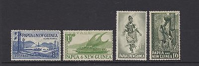 PAPUA PNG 1952-58  8D TO 1/6s STAMPS MINT/MH (DA84b)