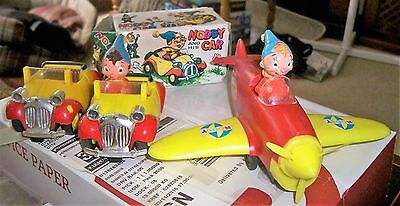 Vintage Boxed Noddy MARX Toys collection including Rare MARX Noddy in Plane