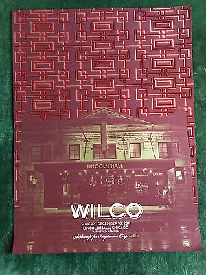 Wilco Lincoln Hall Chicago Poster Incredible Shrinking Tour 12/18/11 Rare