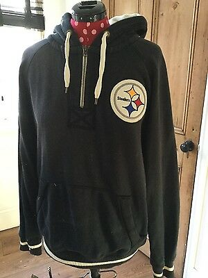 Pittsburgh Steelers Vintage Hoodie - Mitchell and Ness - Large