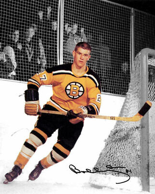 Bobby Orr Boston Bruins Rookie Jersey Number 27 Signed Photo Autograph Reprint