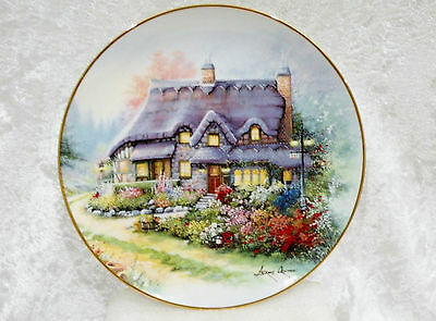"""Royal Doulton / Franklin Mint Display Plate - The Cottage on Lilac Bend vgc 8"""""""