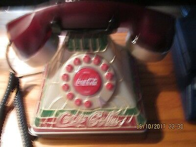 New Lighted Stain Glass Cocoa Cola Telephone