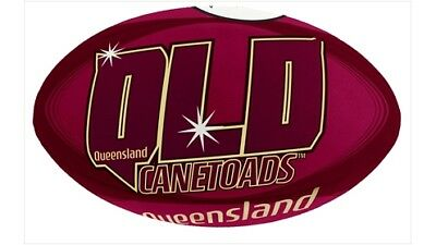 Summit QLD Canetoads Rugby League Ball w/ Synthetic Outer - Size 5