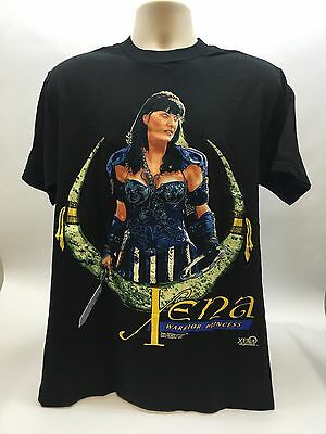 Vintage 1996 XENA Warrior Princess -Lucy Lawless Black T-Shirt Size L