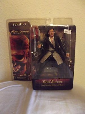 NEW Neca Series 1 Pirates of the Caribbean WILL TURNER Dead Man's Chest Figure!!