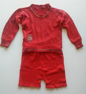 Vintage Antique 1920s  baby clothing Knit Outfit