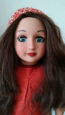 """Ooak Customized 18"""" Battat Our Generation Doll Brown Hair Blue Eyes, Dressed"""
