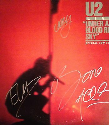 U2 Under A Blood Red Sky LP Autographed By All 4 Original Members (Bono)