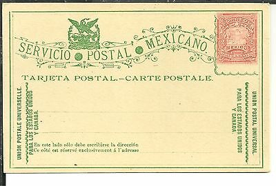 Mexico  Tarjeta Postal 2 Cents Mulitas Stationary Unused